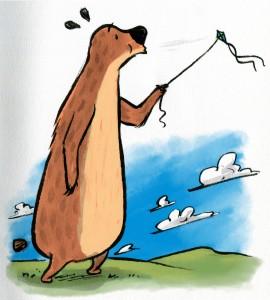 The Great Big Bear Flies A Kite