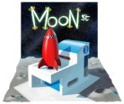 <font color=gray>Red Rocket on the Moon - Personal work</font>